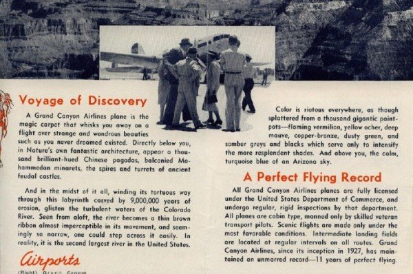 Grand Canyon Airlines Brochure