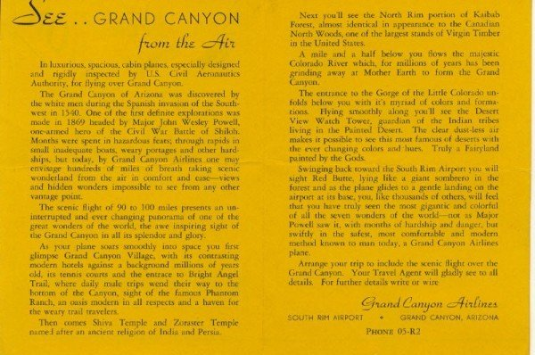 Brochures | Grand Canyon Airlines