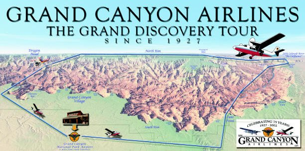 Grand Discovery Tour Map Grand Canyon Airlines